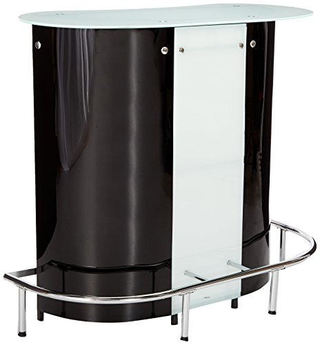Coaster home furnishings contemporary bar table black and for Home bar furniture abu dhabi
