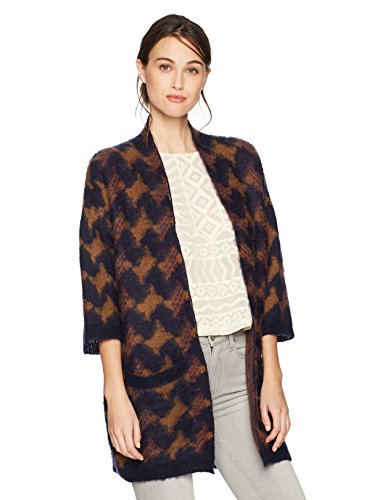 Lucky Brand Women's Iona Cardigan Sweater, Multi, L by Lucky Brand