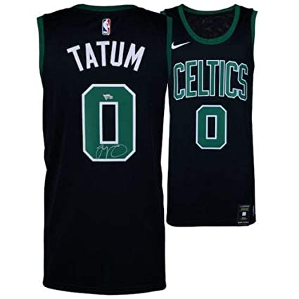 new styles 4b491 30260 Amazon.com: JAYSON TATUM Boston Celtics Autographed Black ...