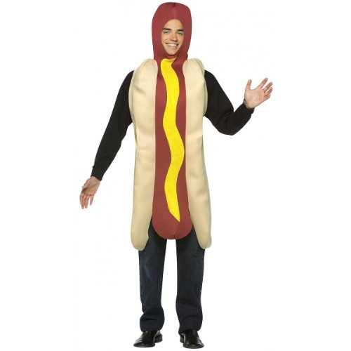 Hot Dog Adult Costume - One