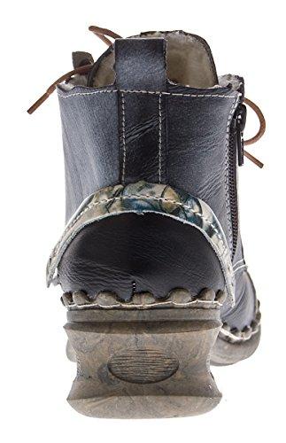 TMA - zapatos con cordones Mujer Negro - Schwarz Grau