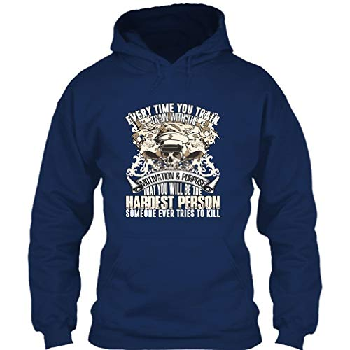 Every Time You Train T Shirt, Gift for Police T Shirt Hoodie (M,Navy) ()