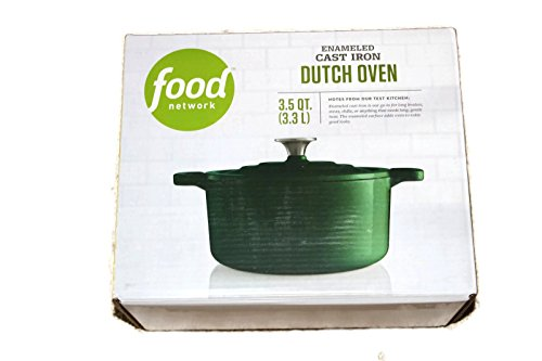 Food Network 3.5 qt Enameled Cast-Iron Dutch Oven Evergreen