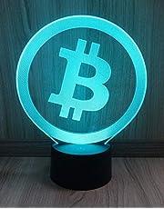Multicolor LED-lamp in bitcoin-design (7 kleuren) - perfect cadeau voor Krypto fans (BTC)