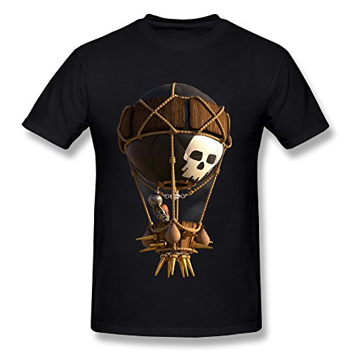 SunzioSet Men's Clash Of Clans Balloon T Shirts - Clash Of Clans T Shirt