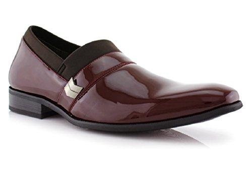Delli Aldo Men s Dress Shoes Slip on Tuxedo Loafers Patent - Leather Lined  - Buy Online in UAE.  e1979a9b1af