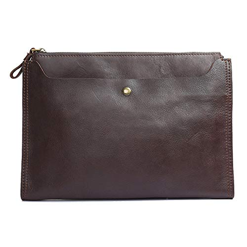 Men's Retro Clutch Bag Briefcase Leather Suede Leather Sleek Minimalist Design Handbag, Portable Business Clutch Bag File Storage Bag Storage Bag Briefcase,Metallic