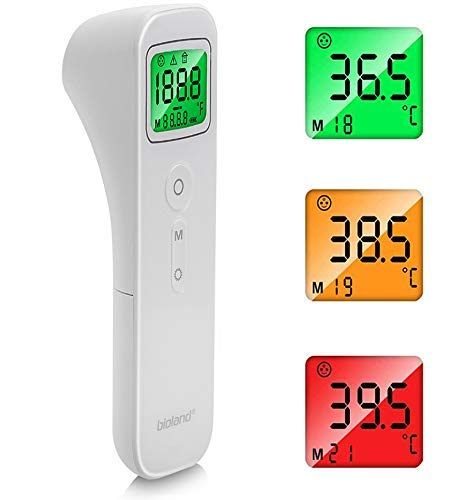Termómetro de Frente, AGM Termómetros para Bebé y Muñeca Digital Instantáneas, Pantalla LCD Termómetro Infrarrojo sin Contacto Profesional para Bebé, Adultos