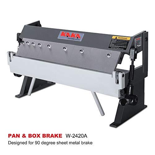 KAKA INDUSTRIAL W-2420A, 24-Inch Box and Pan Brake, Solid Construction Sheet Metal Brake, High Precision Pan and Box Metal Brake, Easy Operation Metal Box Brake, 20 Gauges Sheet Metal -
