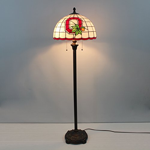 16-inch NCAA Ohio State Buckeyes Stained Glass Floor Lamp