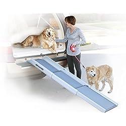 PetSafe Solvit Deluxe Tri-Scope Telescoping Pet Ramp or Carrying Case, 28 in. – 70 in., Portable Lightweight Aluminum Dog Ramp