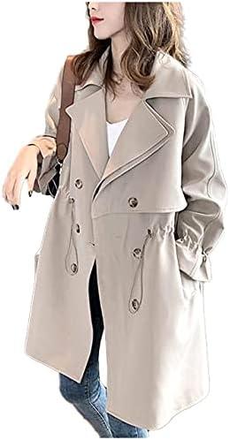 [フェイミー] トレンチ コート レディース 春 ショート丈 ポケット付き アウター ジャケット 3カラー M 〜 XL