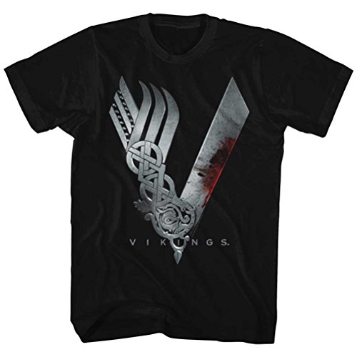 Vikings Show Logo T-shirt, Black, Medium (Channel Logo T-shirt)