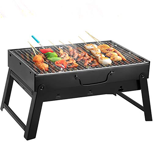 AGM BBQ Charcoal Grill, Folding Portable Lightweight Barbecue Grill Tools for Outdoor Grilling Cooking Camping Hiking Picnics Tailgating Backpacking Party