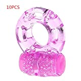 10pcs Strong Vibration Delay Ring Silicone Massage Ring