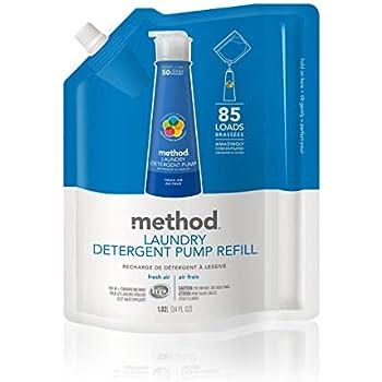 Method Laundry Detergent Refill for Pump Bottles, Fresh Air, 34 Ounce, 85 Loads