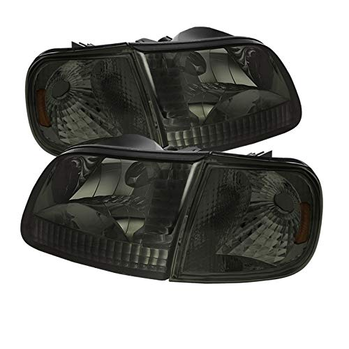 For 1997 2004 F150 F250ld 1997 2002 Expedition Smk Headlights Corner W Amber Reflector Pair L R 1998 1999 2000 2001