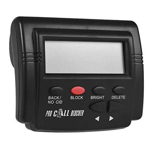 Docooler CT-CID803 Caller ID Box Call Blocker Stop Nuisance Calls Devices Call ID LCD Screen Display with 1500 Numbers Capacity Stoping All Cold Calls for Fixed Phones Antique Landline Telephone ()