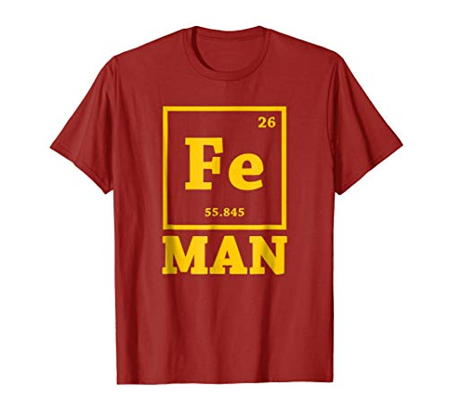 Iron Chemistry Man Science T Shirt Cool Funny Superhero -