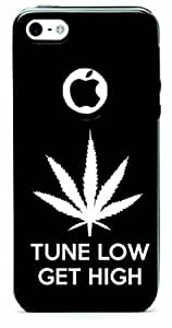 Tune Low Get High Aluminum and Silicone iPhone 5c Protective Case (Black)