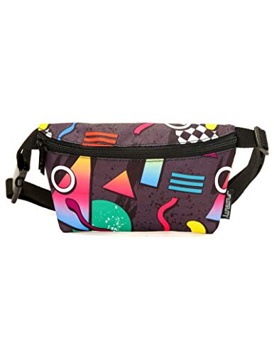 FYDELITY Fanny Pack Belt Bag Ultra-Slim Fashion -80's BMX Bandit Eighties ()