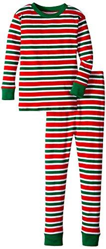 New Jammies Boys Holiday Snuggly Pajama Set, Christmas Stripes, 10