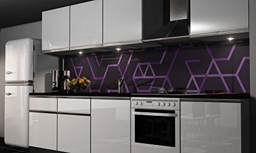 Film autocollant décoratif pour cuisine - Protection anti-éclaboussures, H: 65cm x B: 200cm