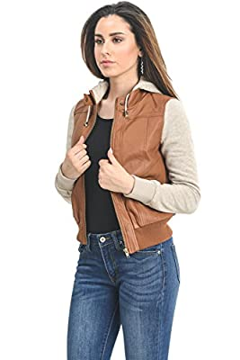 Instar Mode Women's Ultimate Moto Biker Faux Leather Jacket