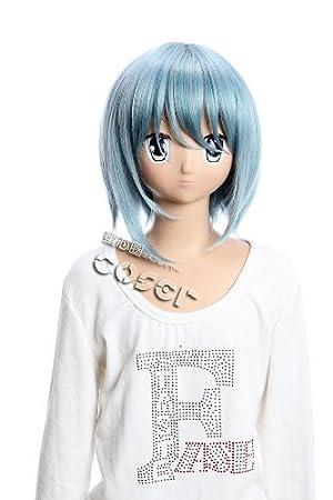 Kawaii-Story W de 193 Puella Magi Madoka Magica Sayaka Cosplay Peluca Wig Azul Blue
