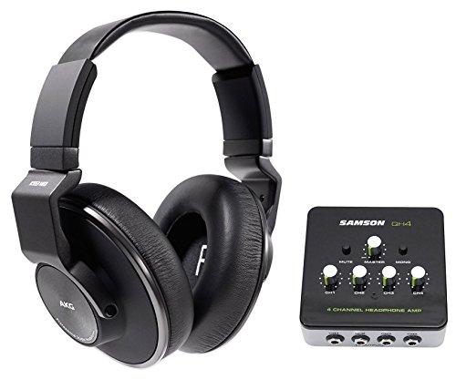 AKG K553 MK2 MKII Closed Back Studio Monitoring Headphones+4-Ch Amplifier Amp