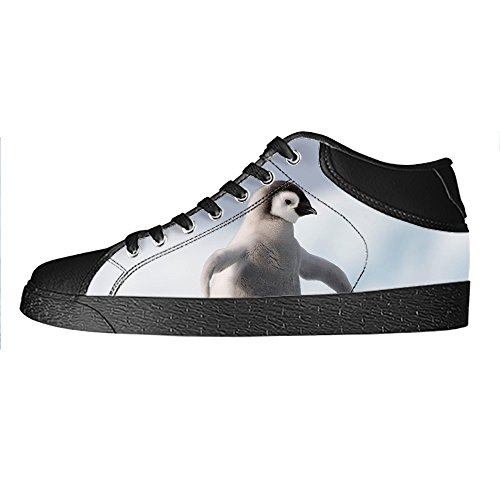 Custom Pinguin Mens Canvas shoes Schuhe Lace-up High-top Sneakers Segeltuchschuhe Leinwand-Schuh-Turnschuhe A