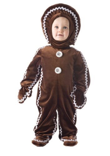 Gingerbread Man Costumes Child (Underwraps Baby's Gingerbread, Brown, Large)