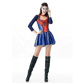 - 41NaYUKaUML - POP Style Women's Halloween Spidergirl Dress Spiderman Cosplay Costume