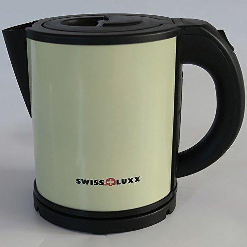 Swiss Luxx 1L Lemon Edelstahl niedrige Leistungsaufnahme schnurlose Wasserkocher Caravan Wohnmobil Milenco