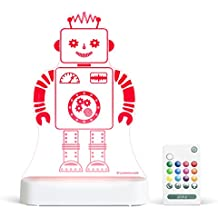 Aloka Robot Starlight Multi-Colored LED Light with Remote Control, Multi-Color Changing, 8 inch
