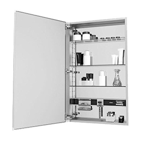 Robern MC2030D4FBR M-Series Mirror Cabinet with Beveled Edge Door, - Mirrors Beveled Edge Bathroom Tiered