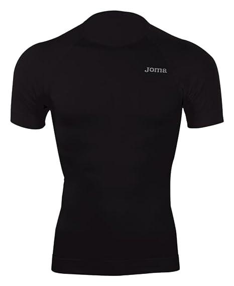 Joma Brama Classic - Camiseta térmica de manga corta para hombre, color negro, talla