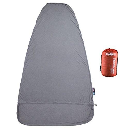 THERMOLITE HEAT+ Sleeping Bag Liner - Travel Lite Series - 330g (11.6 oz) ()