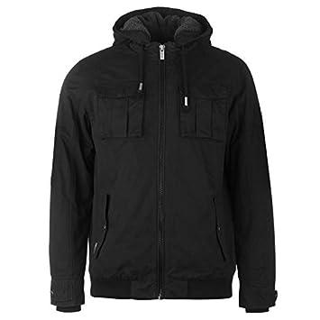 46ef6224186 Firetrap Double Layer Jacket Mens Black Jackets Coats Outerwear XXXLarge
