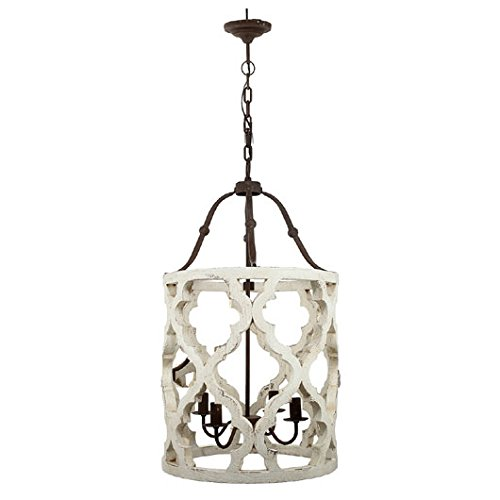 A&B Home Jolette 4-Light Chandelier, Wood ()