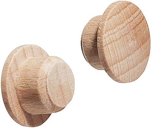 NUOBESTY 80pcs Abdeckkappen Holz f/ür Blindbohrung M/öbel 30x25mm Dekorative Zubeh/ör