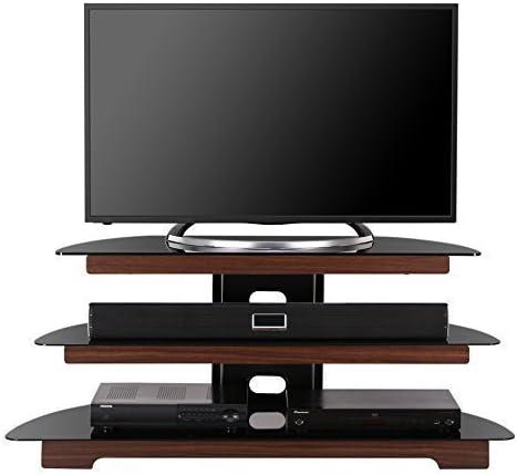 fitueyes TV de pantalla plana Soporte con estante de cristal Home ...