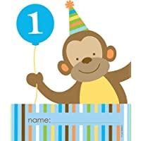 8-Count Party Loot Bags, Sweet at One Boys Cumpleaños