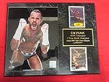cm Punk WWE 2 Card Collector Plaque #1 w/8x10 Color