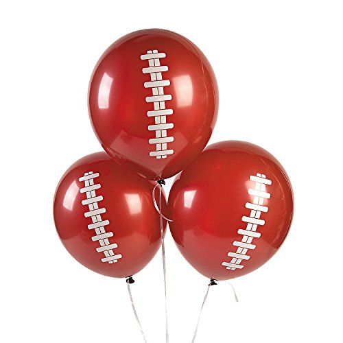 Unbranded Football Tailgate Game Day Party Decorations Latex Balloons (Lot of 12)