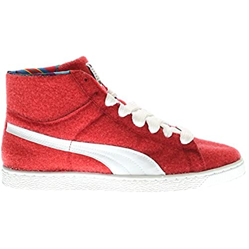 free shipping df3a8 7738c Basket Mid x Dee & Ricky Mens in Ribbon Red/White by Puma ...