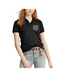 Outdoorpolo Shirtswomen Girls All You Need Is Love and a Dog Cotton Polo Short Sleevecollege Lightweight Polo Collared Shirt