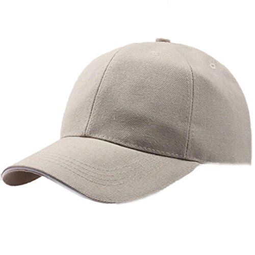 Challyhope Classic Baseball Hat, Unisex Plain Baseball Cap Adjustable Size Curved Visor Hat. Polo Style Low Profile (Beige)