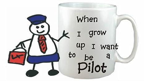 Quiero Ser Un Piloto taza de cerámica - carrera taza apta para ...