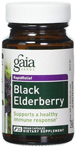 Gaia Herbs, Black Elderberry Liquid Phyto, 30 Veggie Caps